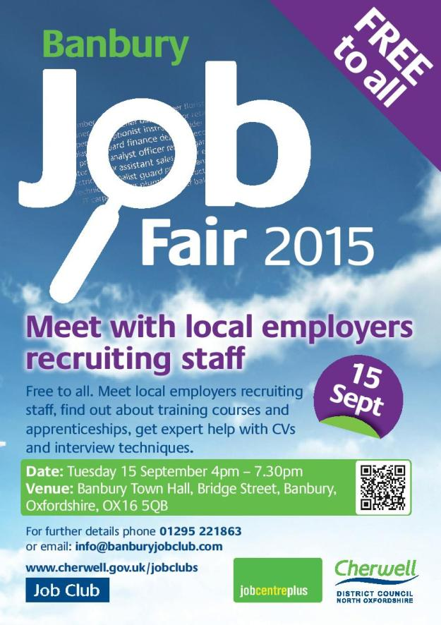 Banbury Job Fair. Sept 2015. Jobseeker