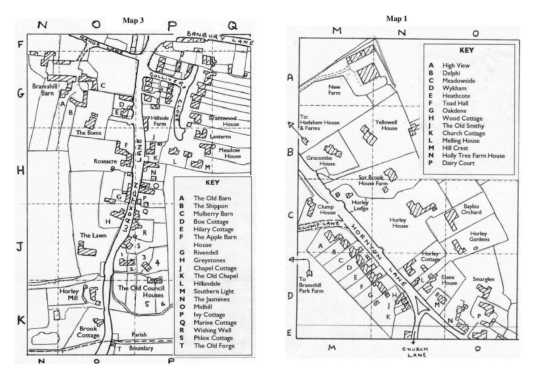 Horley map 1 and 3