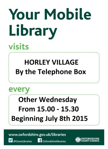 Mobile Library Visit Poster