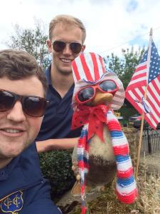 4th July selfy with Judy