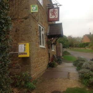 The new defibrillator outside the Red Lion