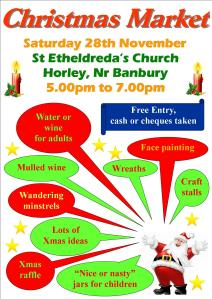 Christmas Market Poster A4 Colour