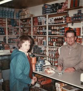 Mr Jack Oliver in the shop
